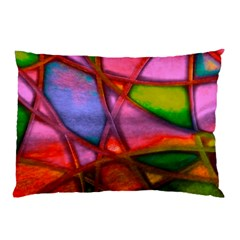 Imposant Abstract Red Pillow Cases (Two Sides)