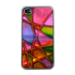 Imposant Abstract Red Apple iPhone 4 Case (Clear)