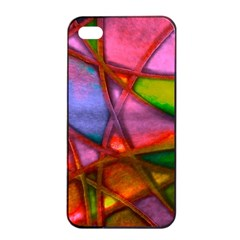 Imposant Abstract Red Apple iPhone 4/4s Seamless Case (Black)