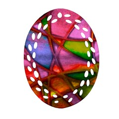 Imposant Abstract Red Ornament (Oval Filigree)