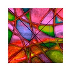 Imposant Abstract Red Acrylic Tangram Puzzle (6  x 6 )