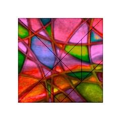 Imposant Abstract Red Acrylic Tangram Puzzle (4  X 4 )