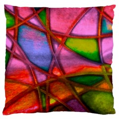 Imposant Abstract Red Large Cushion Cases (One Side)