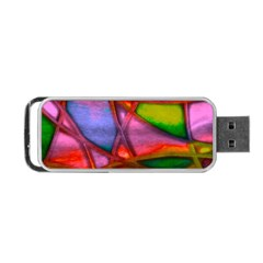 Imposant Abstract Red Portable USB Flash (One Side)