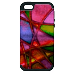 Imposant Abstract Red Apple iPhone 5 Hardshell Case (PC+Silicone)