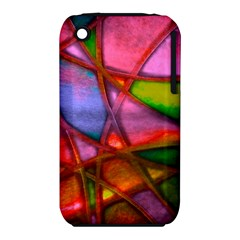 Imposant Abstract Red Apple iPhone 3G/3GS Hardshell Case (PC+Silicone)
