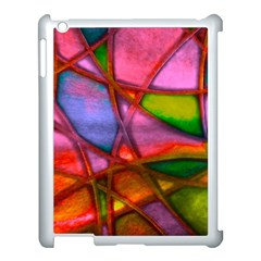 Imposant Abstract Red Apple iPad 3/4 Case (White)