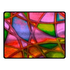 Imposant Abstract Red Double Sided Fleece Blanket (Small)