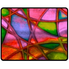 Imposant Abstract Red Double Sided Fleece Blanket (Medium)