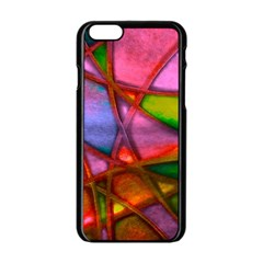Imposant Abstract Red Apple iPhone 6/6S Black Enamel Case