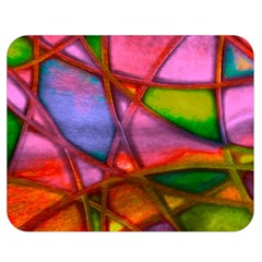 Imposant Abstract Red Double Sided Flano Blanket (medium)