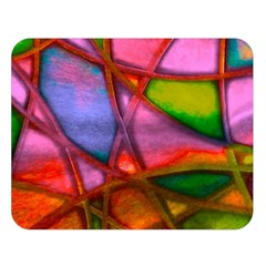 Imposant Abstract Red Double Sided Flano Blanket (Large)