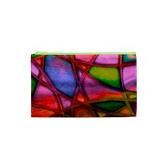 Imposant Abstract Red Cosmetic Bag (xs)