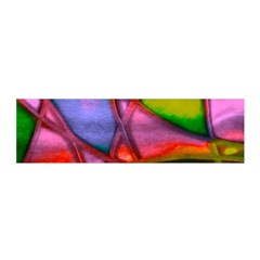 Imposant Abstract Red Satin Scarf (Oblong)