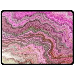 Keep Calm Pink Double Sided Fleece Blanket (Large)