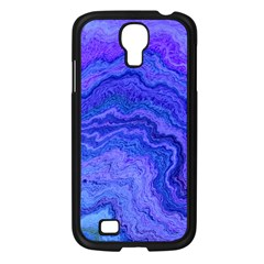 Keep Calm Blue Samsung Galaxy S4 I9500/ I9505 Case (Black)