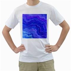 Keep Calm Blue Men s T-Shirt (White)