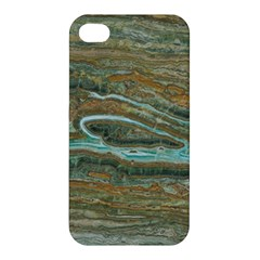brown And green Marble Stone Print Apple iPhone 4/4S Premium Hardshell Case