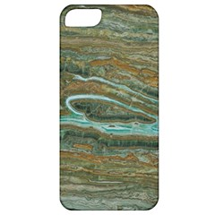 brown And green Marble Stone Print Apple iPhone 5 Classic Hardshell Case
