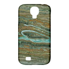 brown And green Marble Stone Print Samsung Galaxy S4 Classic Hardshell Case (PC+Silicone)