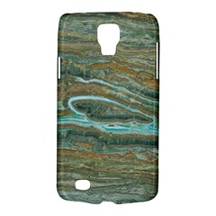 brown And green Marble Stone Print Galaxy S4 Active
