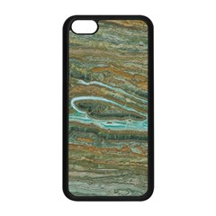 brown And green Marble Stone Print Apple iPhone 5C Seamless Case (Black)