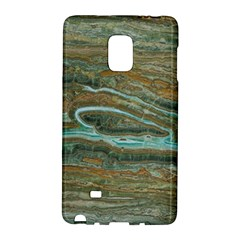 brown And green Marble Stone Print Galaxy Note Edge