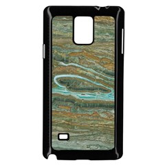 brown And green Marble Stone Print Samsung Galaxy Note 4 Case (Black)