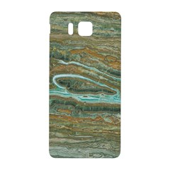 brown And green Marble Stone Print Samsung Galaxy Alpha Hardshell Back Case