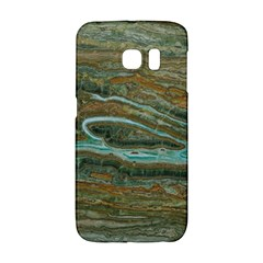 brown And green Marble Stone Print Galaxy S6 Edge