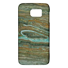 brown And green Marble Stone Print Galaxy S6