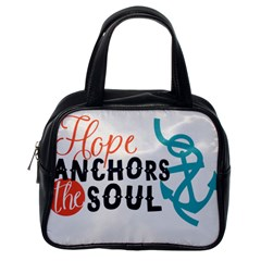 Hope Anchors The Soul Nautical Quote Classic Handbags (One Side)