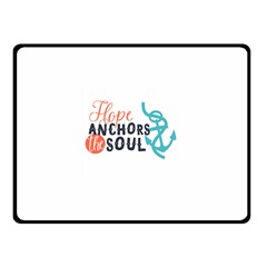 Hope Anchors The Soul Nautical Quote Double Sided Fleece Blanket (Small)