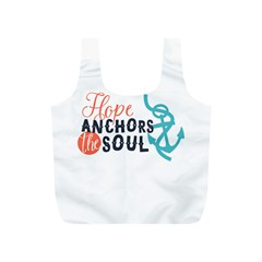 Hope Anchors The Soul Nautical Quote Full Print Recycle Bags (S)