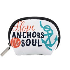 Hope Anchors The Soul Nautical Quote Accessory Pouches (small)