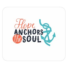 Hope Anchors The Soul Nautical Quote Double Sided Flano Blanket (Small)