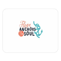Hope Anchors The Soul Nautical Quote Double Sided Flano Blanket (large)
