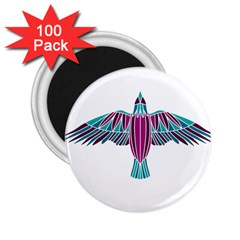 Stained Glass Bird Illustration  2.25  Magnets (100 pack)