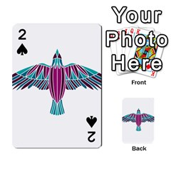 Stained Glass Bird Illustration  Playing Cards 54 Designs