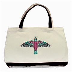 Stained Glass Bird Illustration  Basic Tote Bag (Two Sides)