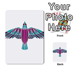 Stained Glass Bird Illustration  Multi Purpose Cards (rectangle)