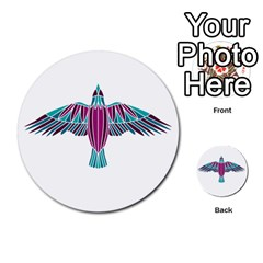 Stained Glass Bird Illustration  Multi Purpose Cards (round)