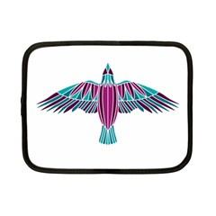Stained Glass Bird Illustration  Netbook Case (Small)