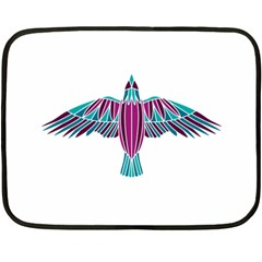 Stained Glass Bird Illustration  Fleece Blanket (mini)