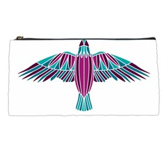 Stained Glass Bird Illustration  Pencil Cases