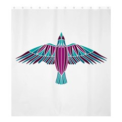 Stained Glass Bird Illustration  Shower Curtain 66  x 72  (Large)