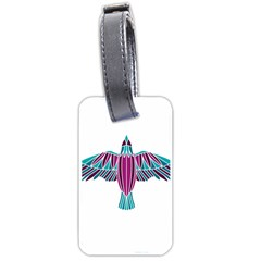 Stained Glass Bird Illustration  Luggage Tags (two Sides)