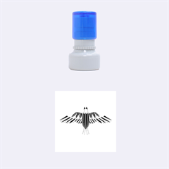 Stained Glass Bird Illustration  Rubber Round Stamps (small)