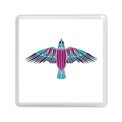 Stained Glass Bird Illustration  Memory Card Reader (square)