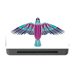 Stained Glass Bird Illustration  Memory Card Reader with CF